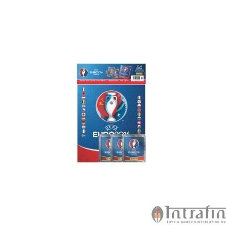 Euro 2016 Panini sticker starter set Hardcover Album 3 packs