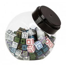 Jar of dice with Antique Fudge andCyber Fudge D6 dice (120)