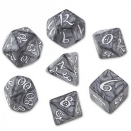 Classic RPG Smoky & White Dice Set(7)