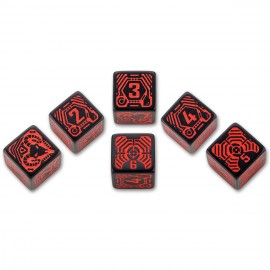 Shadowrun Samurai 6D6 Dice Set (6)