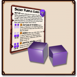 Dungeon Drop: Mysterious Shiny Purple Cubes Mini-Expansion