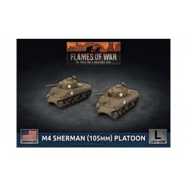 M4 Sherman (105mm) Assault Gun Platoon (x2 Plastic)