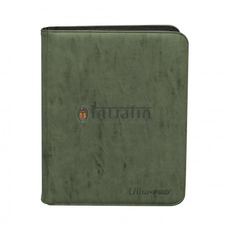 Zippered Pro Binder 9-Pocket Suede Collection Emerald