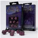 Call of Cthulhu 7th Edition Black & Magenta Dice Set