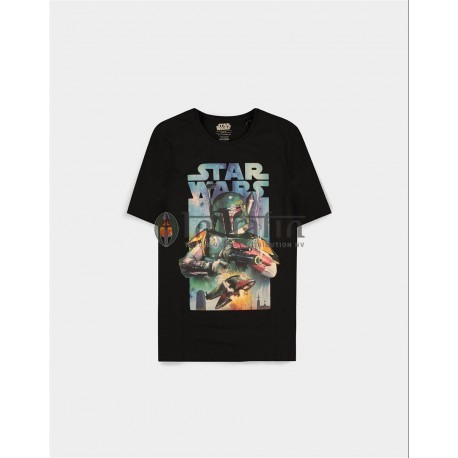 Star Wars - Boba Fett Poster - Men's Short Sleeved T-shirt - L