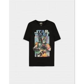 Star Wars - Boba Fett Poster - Men's Short Sleeved T-shirt - XL