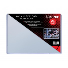 "Toploader 8 1/2 ""x 11"" sideload 25ct (sized to fit 8-1/2 x 11 card sleeves)"