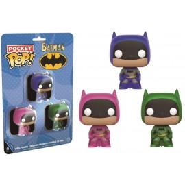 Heroes Pocket POP - Batman Multicolor Pack Pink/Green/Blue