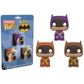 Heroes Pocket POP - Batman Multicolor Pack Purple/Orange/Yellow