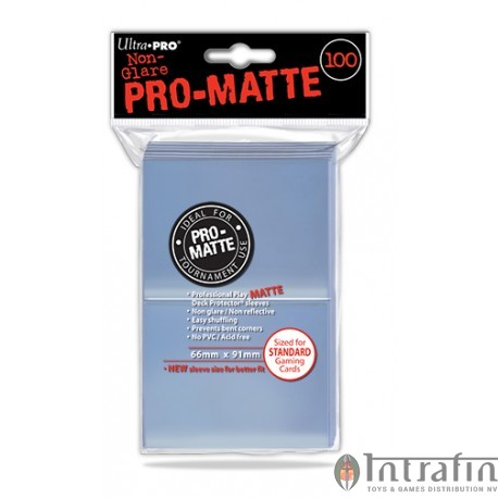 Pro Matte Standard Sleeves Clear 100ct