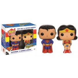 DC - Salt & Pepper Set - Superman & Wonder Woman