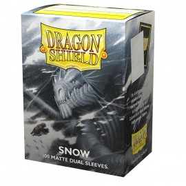 Dual Matte sleeves Dragon Shield (10X100) SNOW IRIN