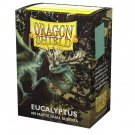 Dual Matte sleeves Dragon Shield (10X100) EUCALYPTUS LEHEL