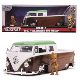 Marvel Groot 1963 VW Bus Pickup + Groot Figurine 1:24