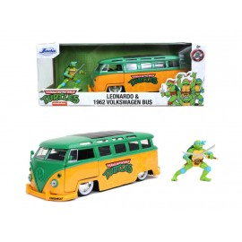 Turtles Leonardo 1962 VW Bus + Leonardo Figure 1:24
