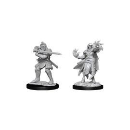D&D Nolzur's Marvelous Miniatures: Hobgoblin Fighter Male & Hobgoblin Wizard Female