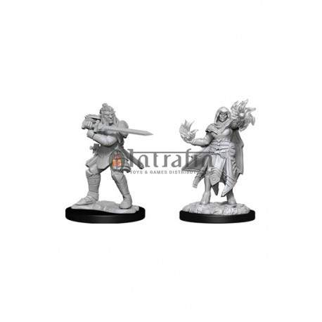 D&D Nolzur's Marvelous Miniatures: Hobgoblin Fighter Male & Hobgoblin Wizard Female