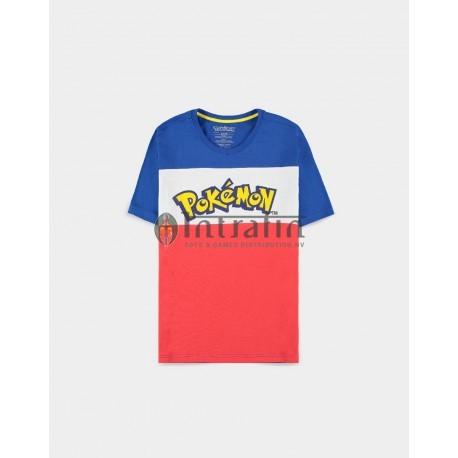 Pokémon - The Logo Colour-block - Men's T-shirt - Medium