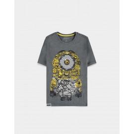 Minions - Men's ShortT-shirt Grey- Large