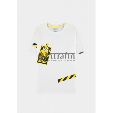 Minions - Men's Short T-shirt White- 2XLarge