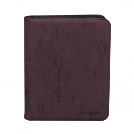 Zippered Pro Binder 9-Pocket Suede Collection Amethyst