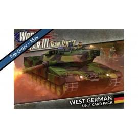 WWIII: West German Unit Cards (51x Cards)