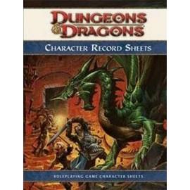 Dungeons & Dragons 4 Character Record Sheets