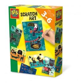 Scratch art (dieren) - Cartes à gratter - animaux