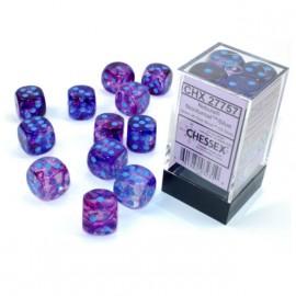 Nebula® 16mm d6 Nocturnal/blue Luminary Dice Block™ (12 dice)