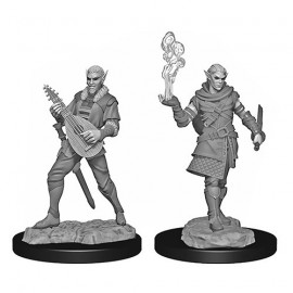 Critical Role Unpainted Miniatures: Pallid Elf Rogue and Bard Male