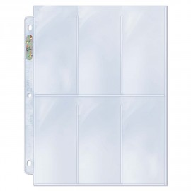 6-Pocket Pages Platinum (100)