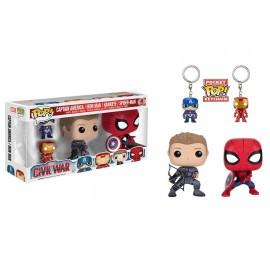 Marvel POP - Civil War - Gift Set 4-pack - Hawkeye, Spider