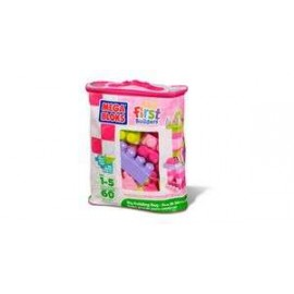 First Builders Building Bag Pink 60 pieces