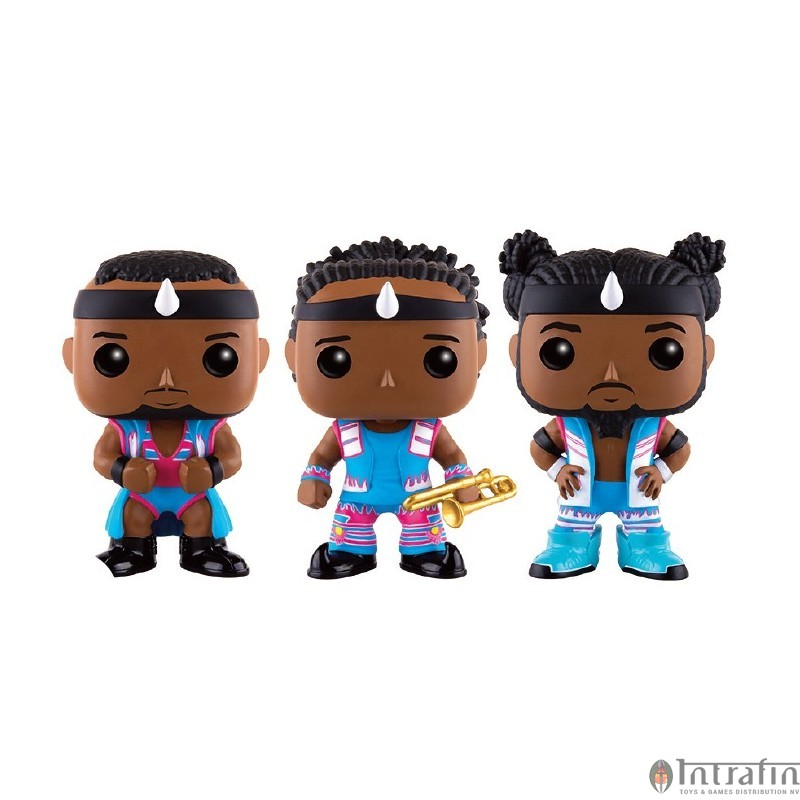 "Big E Xavier Woods Kofi Kingston WWE Exclusive 3-Pack Figures ""NEW"" Funko POP"