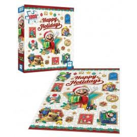 """Super Mario™ """"Happy Holidays"""" 1000-Piece Puzzle"""