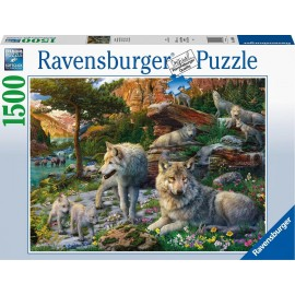 Wolves in spring 1500 pieces Puzzle