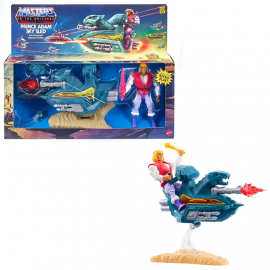Masters of the Universe DeluxePrince Adam with Sky Sled Action Set 14 cm