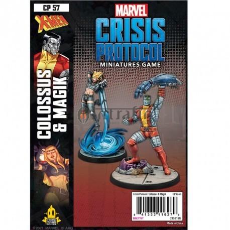 Marvel Crisis Protocol Colossus and Magik- miniatures
