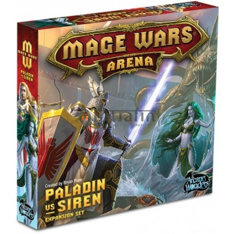Mage Wars Paladin vs. Siren
