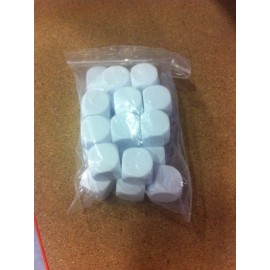 D6 Bag 22mm White Blank Dice (25)