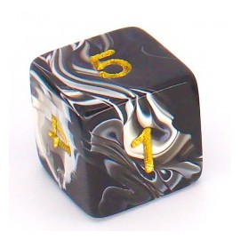 D6 Bag Numbers Marble Dice (25)