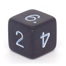 D6 Bag Numbers Opaque Dice (25)