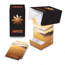 MTG Mana 5 Plains Deck Box with tray