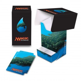 MTG Mana 5 Island Deck Box with tray