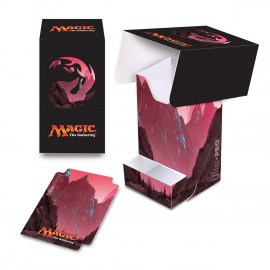 MTG Mana 5 Mountain Deck Box with tray