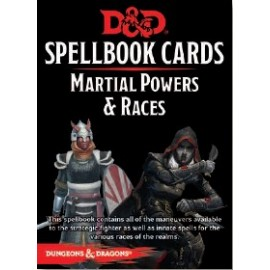 Dungeons & Dragons Spellbook cards Martial Powers & Races (61 cards)