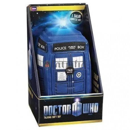 "Doctor Who Talking 15"" Plush TARDIS with LED light-up"