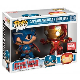 Marvel POP - Captain Amercica/Iron Man in Battle 2-pack