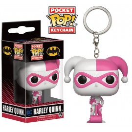 POP Keychain - Pink and White Harley Quinn