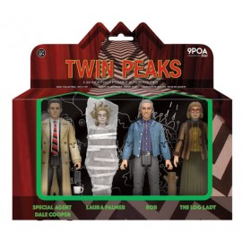 "Action - Twin Peaks - Agent Cooper, Laura Palmer, Log Lady and Bob - 3,75"" 4-pack"